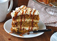The Pumpkin Spice Latte Cake of your dreams! Super moist PSL cake layers, spiced buttercream frosting, KAHLUA caramel sauce, and homemade whipped cream.The first time I heard someone refer to a pum...