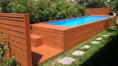 A Swimming Pool Crafted From a Dumpster : HGTV Gardens