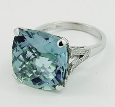 Cocktail Prasiolite (green Amethyst) ring