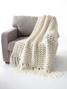 Crochet 5 1/2 Hour Throw...its super easy and it really does take 5 1/2 hours to make!