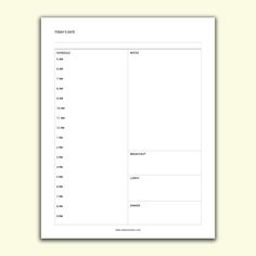 Daily Planner Schedule Planner printables #collage #life #personal #templates #monthly #daily #teacher #business #financial #student #fitness #weekly #makeyourown #organization