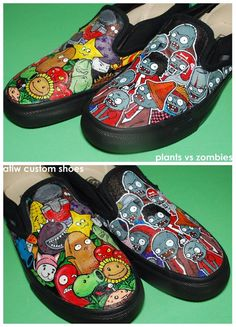 Plants vs Zombies Shoes by ~ectomurf on deviantART