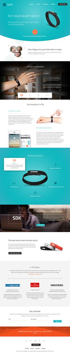 Nymi Band Website in Digital