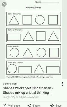 Super Simple Math: Shape Worksheets, 2D Shapes, NO PREP   shapes ...