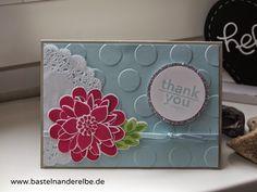 basteln an der Elbe, Danksagung, thank you card, Karte, Stampin Up
