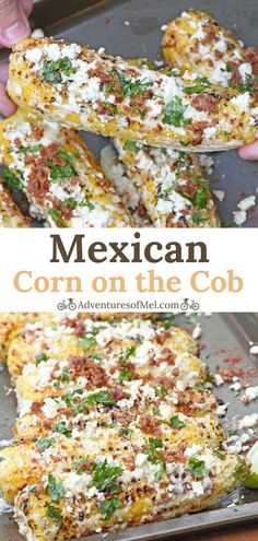 How to transform grilled corn on the cob into Mexican corn, with a tasty addition of bacon sprinkled on top. Delicious, flavorful side dish recipe! #cornonthecob #mexicancorn #mexicanstreetcorn #mexicancornonthecob #sidedish #grilling #grilledcorn #grillingrecipe #recipe #food #summersides #dinnertime #corn #bacon