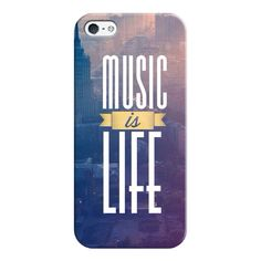iPhone 6 Plus/6/5/5s/5c Case - Music is Life ($35) ❤ liked on Polyvore featuring accessories, tech accessories, phone cases, phone, cases, electronics, iphone case, apple iphone cases, slim iphone case and iphone cover case