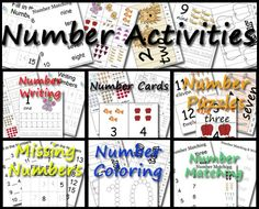 Over 250 pages of Number 1 to 15 Activities including: Missing Numbers, Writing Pages, Number Puzzles, 1 to 15 Number Cards, 3 Part Number Cards, Number Coloring, and Number Matching - 3Dinosaurs.com