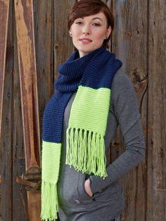 Bold Stripes Scarf   Yarn   Free Knitting Patterns   Crochet Patterns   Yarnspirations