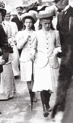 Grand Duchesses Tatiana and Olga of Russia. High quality edit / zoom