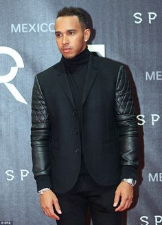 Looking good: Formula 1 champ Lewis Hamilton also rocked up to the event ...