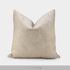 致悦家居现代简约样板房设计师沙发抱枕间棉W纹装饰枕
