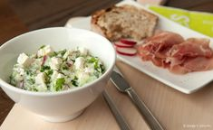 Gurken-Radieschen-Feta-Salat
