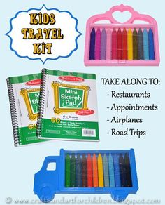 Fun DIY Travel Kit for kids: take along to restaurants, appointments, on road trips, on airplanes