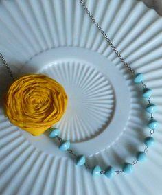 Rosette Necklaces...lots of color options