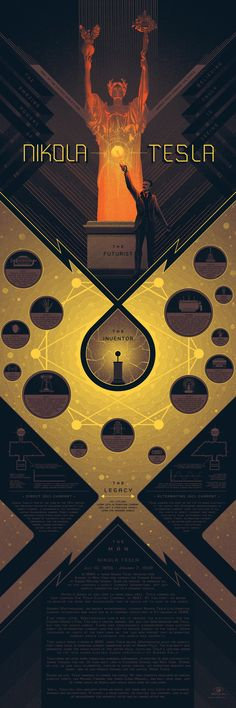 Stunning Infographic Art Series - Design - ShortList Magazine | Learn about the work of Nikola Tesla