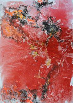 "Saatchi Art Artist: Bruno Elisei; Oil 2013 Painting ""il respiro del papavero"""