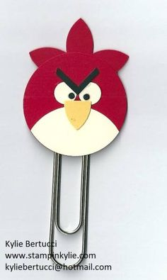 Angry Bird Bookmark by cards by Kylie-Jo - Cards and Paper Crafts at Splitcoaststampers