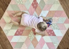 Diamond Quilt Tutorial Baby quilt or table topper