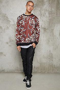 Foliage Print Sweatshirt