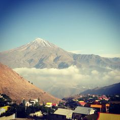 Damavand Mountain seen from Aira village, Iran