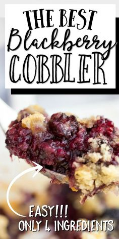 This easy blackberry cobbler recipe is an old fashioned favorite from my grandmother. It's incredibly simple to make and is bursting with flavor. Blackberry Cobbler Bisquick, Healthy Blackberry Cobbler, Blackberry Recipes Easy, Fruit Cobbler, Old Fashioned Blackberry Cobbler, Cake Mix Cobbler, Blueberry Cobbler, Cherry Recipes, Fruit Recipes