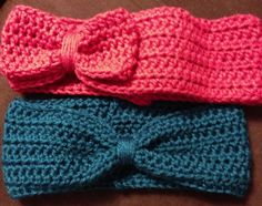 Christina's Cookin' Up Crafts: Daily Dish: Crocheted Bow or Turban Ear Warmer