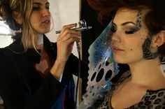 fdf7ff8f5 Audette Sophia Airbrushing Model Tracy Piper at Hot Couture show at The  Crucible