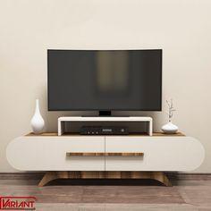 Comoda Tv Rose - Crem/Nuc Tv Stand Wayfair, Tv Stand Console, Contemporary Cabinets, Modern Shelving, Modern Tv, Diy Tv, Tv Unit, Living Room Kitchen, Room Colors