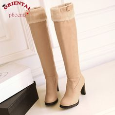 (34.63$)  Know more  - 3.28 Sale Price women boots Knee-High Faux Leather mujer Botas High-heeled Knight boots high heel quality 2016 women's snow boot