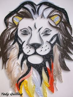 Lion quilling - strong effect !