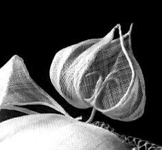 Bridal wedding tulip headpiece by Ozmonda Fascinator, Headpiece, Tulip Wedding, Wedding Hats, Tulips, Couture, Bridal, Headdress, Headdress