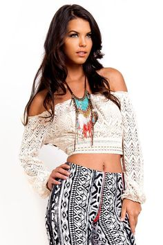 b1e5a5850b7e3f 30 Best Crop Tops and High Waisted Skirts images