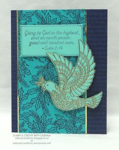 Stamp & Create With Sabrina: Dove of Peace - Christmas in Night of Navy, Bermud...