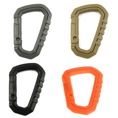 Weiteres Zubehör Bergsteigen & Klettern 10pcs Aluminium D Form Ring Camping Karabiner Snap Clip Karabiner Schnalle