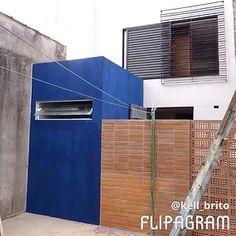 processo de trasnformação  #industrialstyle #loft #azul #arquitetura #tijolinho