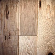 Custom finished Reclaimed Hickory Hardwood Flooring - wide plank, heavy wire brush, natural finish, lots of texture, knots, character grade    custom floor by Artisan Hardwood Floors
