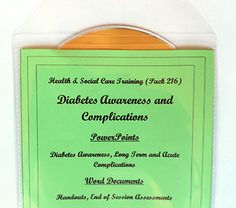 Presentations, handouts and end of session assessments on Diabetes Awareness. The pack is a thorough overview of the condition and things that care staff should be aware of and look out for. It also explains what can happen if diabetes is not managed correctly (acute and long term complications. Each session comes with a handout and an end of session assessment to check learners understanding.