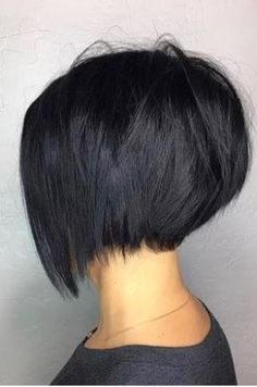 curly Long Hairstyles ideasTips for girls 968 Long Layered Hair, Long Hair Cuts, Bob Haircut For Fine Hair, Stacked Hair, Hair Color And Cut, Hair 2018, Short Bob Hairstyles, Great Hair, Hair Dos