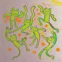 Indie Drawings, Art Drawings Sketches, Cute Drawings, Arte Indie, Indie Art, Pretty Art, Cute Art, Photowall Ideas, Frog Art