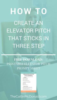 How to write an elevator pitch | Elevator pitch business | Freelance Business Tips | Freelance Tips | Freelancing Business | Freelancer business marketing | Free download for Freelancers