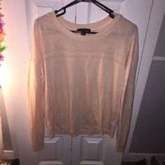 Peach sweater Peach sweater w tiny hole cut outs Forever 21 Sweaters