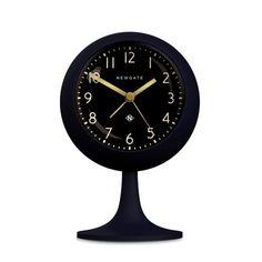 Newgate Clocks Dome Alarm Clock - Petrol Blue / Black Dial