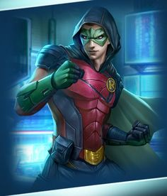 Robin from Injustice 2 Mobile Robin 5 Robin Comics, Robin Dc, Batman Robin, Batman Arkham, Batman Art, Robin Hero, Robin Superhero, Damian Wayne, Cyborg Dc Comics