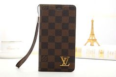 LV Luxury Samsung Galaxy S7 Wallet Case Cover Coffee
