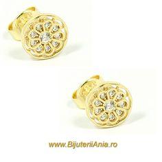 Bijuterii aur galben cercei  ieftini colectie noua - Click pentru a mari Aur, Engagement Rings, Wedding, Jewelry, Products, Rings For Engagement, Mariage, Jewellery Making, Wedding Rings