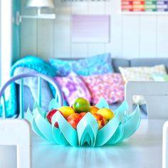 Petals decorative fruit bowl - Turquoise  www.beandliv.com #interior #homedecor #fruitbowl #beandliv  Photo by @nydeligflottbloggen