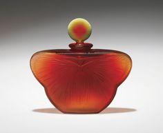 1925 Rare R. Lalique La Phalene Perfume Bottle for D'Heraud