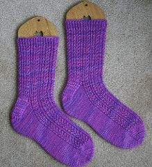 Double Eyelet Rib Toe-Up Socks by Wendy D. Johnson | free pattern