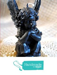 Pure Beeswax Sitting Angel Cupid Candle in Black from Peace Blossom Candles http://www.amazon.com/dp/B01C0Q0OHA/ref=hnd_sw_r_pi_dp_lkehxb1MQMG1H #handmadeatamazon